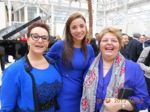 Ladies in Blue: Mrs. Barbara Gallo from Casco Shipping and Travel, H.E. Ana Irene Delgado and Mrs. Maria Dixon