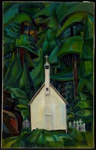 Indian Church, 1929. By Emily Carr. Oil on canvas. Art Gallery of Ontario, bequest of Charles S Band, Toronto, 1970.