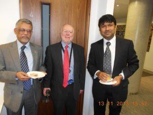 Captain Pottengal Mukundan (Muku) head of the Intrenational Maritime Bureau (IMB), Peter Hinchcliffe from the ICS and Ajay Asok Kumar of IACS