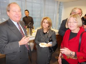 Janos Koenig and Victoria Santos Pires from Eurofin International with Fiona Gavin from Ince & Co
