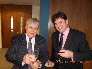 David Buffin MD of Buffin Leadership with Simon Bennet from the ICS