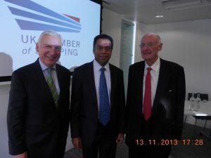 Michael Parker, Dr. Abdul Rahim and Jim Davis