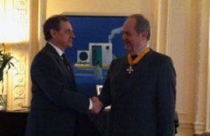H.E the Greek Ambassador Konstantinos Bikas with Prof. Costas Grammenos during the ceremony