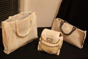Ceramic handbags by Catriona Head