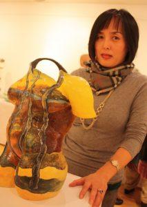 Sarah Choi with her work Torso.