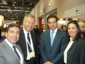 Andreas Stylianopoulos, Andreas Andreadis, Christopher Kaparounakis with Olga Kefalogianni the Greek Minister of  Tourism