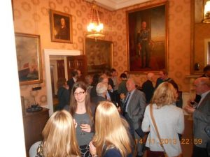 Networking at the reception...
