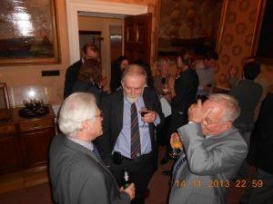 Lloyd's Register's Dr. Jonathan Morley (centre) talking with delegate friends