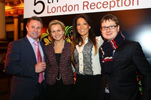 Paul Tingley (Willis Marine), Olga Lazovskaya (RGS), Michelle Tingley, Konstantin Rogach (RGS)