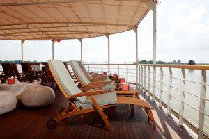 Al fresco lounge on river vessel Paukan 2012