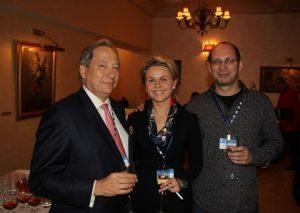 Nick Sansom of Standard P&I Club, Olga Lazovskaya, and Mikhail Selyukov, claims and insurance manager at Bashvolgotanker