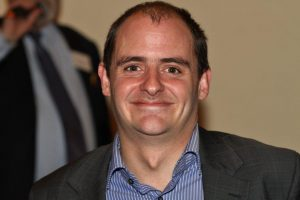 Adrian Bew of RFIB who won an IPad Air donated by IPS.