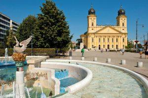 elegant Kossuth Square. Debrecen