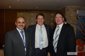 RINA's Spyros Zolotas, Atlas Maritime Philimon Patitsas and Captain Dimitris Bezantakos