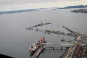 Another view of new dock under construction at Port of Sept-Îles