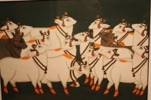 Nathdwara Cows VI By Ghanshyam Nimbuk