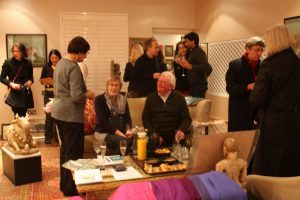 Guests at private view of The Lure of the Miniature