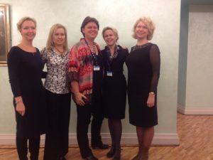l to r: Ekaterina Bykovskaya, Nadezhda Malisheva, Karin Orsel, Olga Lazovskaya, Oxana Osadova