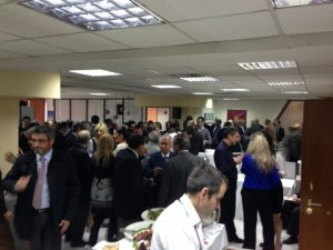 A view of the main hall; a full house!