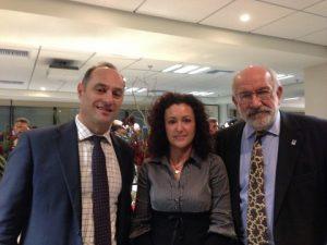 DNV GL's Konstantinos Siozos and Konstantina Aravantinou with John Faraclas