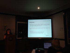 Katerina Stathopoulou during her slides presentaton