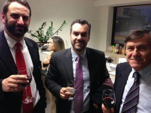 DNV GL's georgios Teriakidis with journalists Ilias and George Bissias from Naftika Chronika