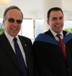 Philip Wake (left) with WMU Associate Professor Dr Ilias Visvikis.