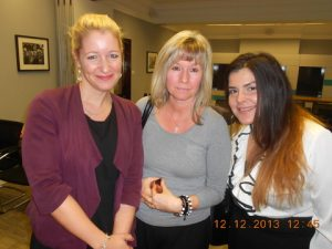 Susanne Lehring and Melanie Couling-Austin from London Special Risks with Antigone-Maria Vrochidou