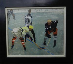 Ice Hockey Match. Oil on board, 1960. By Leonid Mironov. Courtesy of John Barkes.