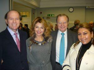 Andreas A. Tsavliris with Zoe, George Tsavliris and Elena Mavrogonatou