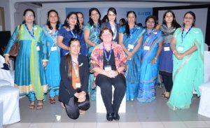 Chennai WISTA sub-chapter members with Karin Orsel and Sanjam Sahi Gupta