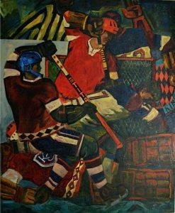 Ice Hockey. Oil on canvas, 1968. By Oleg Koren. Courtesy of John Barkes.