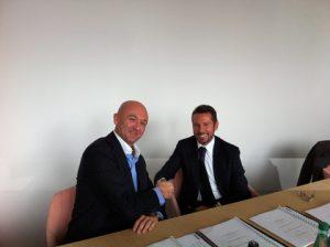Olivier Utz (CFO Promar) and Andrea Trevisan (Damen Regional Sales Manager)