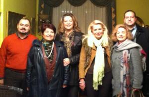 l to r: Sergios Manarakis,  Kyriaki Christodoulou, Christina Sarantopoulou, Katerina Kotsaki, Mary Vlachopoulou,  Ioannis Nerantzis.