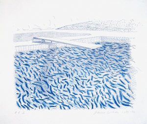 Lithographic Water Made of Lines and Crayon (Pool II-B), 1978-80. Edition 42 C David Hockney/Tyler Graphics Ltd