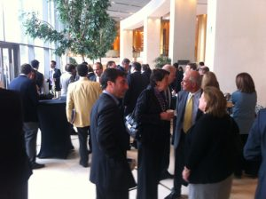 Another view from he intense networking during one of the breaks