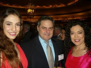 Pacific & Atlantic Shipmanagers' Takis N. Pappas flanked by his daughter and wife
