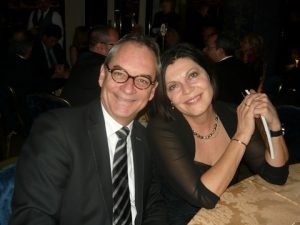 Jan Pillar from Blohm & Voss with his wife Maria winners in the raffle for a luxury weekend in the UK!