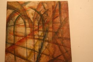 Mixed media work on the continuity of lines. By Irtiqa.
