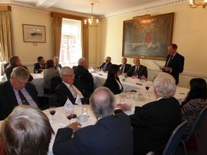 A busy luncheon with Andrew Winbow IMO speaking