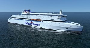 Brittany Ferries LNG-fuelled ropax. Credit Brittany Ferries and STX France