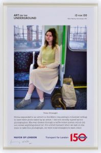 Gillian Wearing. Print for 15 for 150 series. Copyright the artist. Courtesy Art on the Underground.