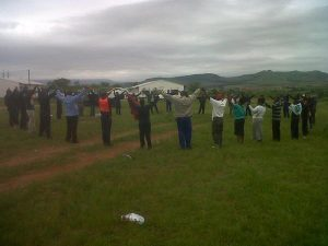 STAWU civil aviation workers striking against the Swaziland Civil Aviation Authority (SWACAA)