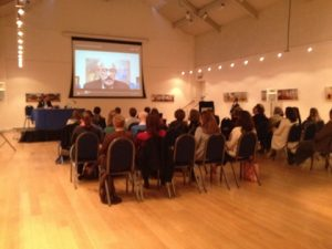 Another view of  Great Hall with John Faraclas on the projector delivering his speech