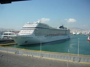 A view of the Piraeus cruise terminal