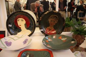 Ceramics by Elżbieta Stanhope catch the photographer's eye.