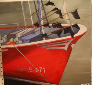 Lobster boat. Acryclic. By Nicky Cundy.