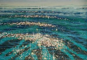 Glistening Shallows. Oil on canvas. By Theo Platt.