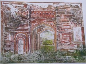 Hidden Gems. Collagraph. By Colin Veitch.