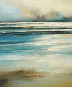 Lost in the Horizon. Oil on canvas. By Claire Wiltsher.